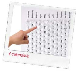 calendario antistress fatto con carta scoppiettina